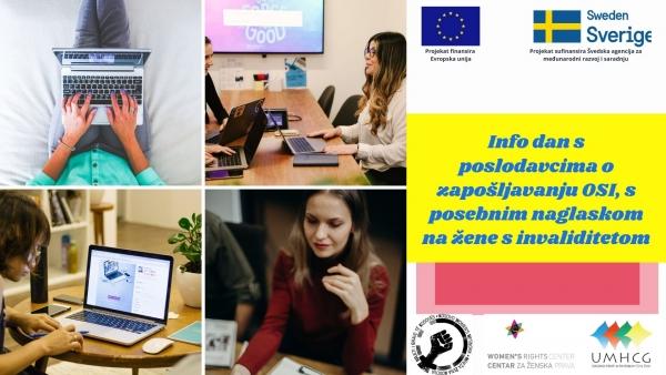 NAJAVA: Info dan s poslodavcima o zapošljavanju žena s invaliditetom u Podgorici - UMHCG