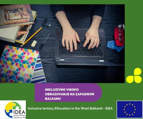 Najava: UMHCG započinje realizaciju projekta Inkluzivno visoko obrazovanje na Zapadnom Balkanu – IDEA